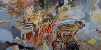 Wild boar family - M